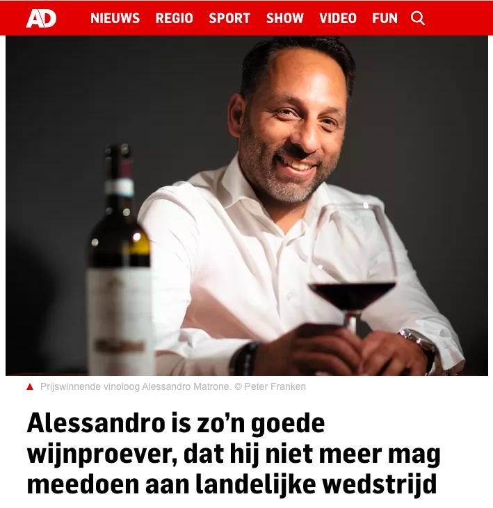 Alessandro Matrone, vinoloog van het jaar 2021